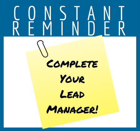 Complete Your Lead Manager