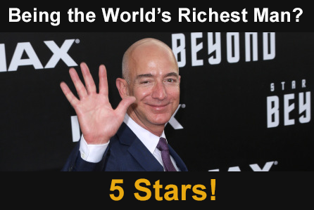 Jeff Bezos gives being the world