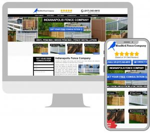 fence company lead generation website example